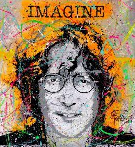 John Lennon art cozumel Mexico